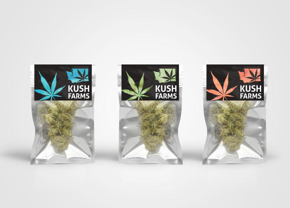 Kush Farms Label Design